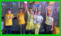 The winners of the Spelling Bee contest (Kindergarten)