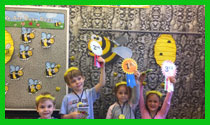 The winners of the Spelling Bee contest (Giraffes)